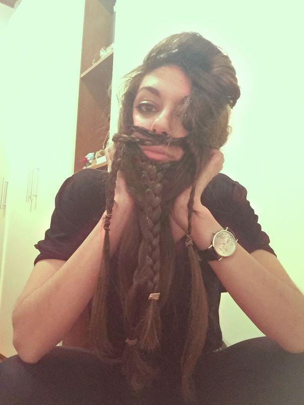 women beards hair design 66