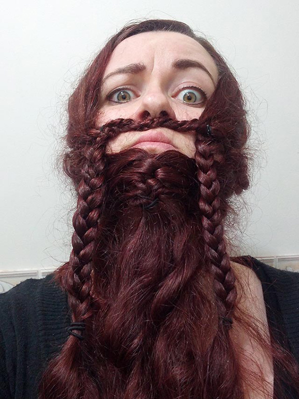 women beards hair design 7