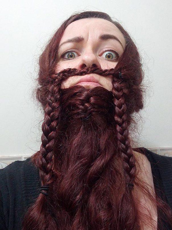 women beards hair design 7