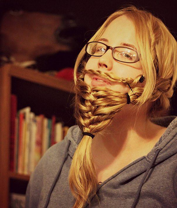 women beards hair design 9