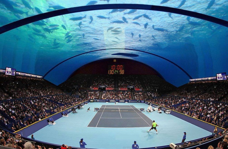 world's first underwater tennis court 1