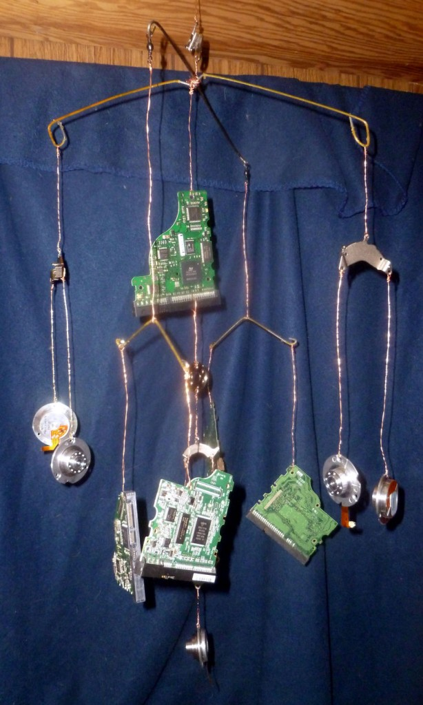 Computer Hard Drives Into Jewelry And Art 8