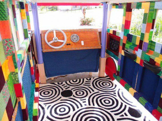 DIY bus bunk bed21
