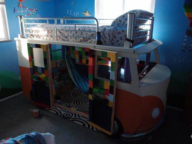 DIY bus bunk bed23