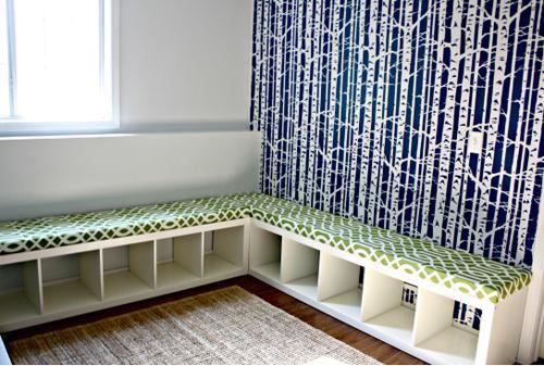 IKEA bookcase into a bench 7
