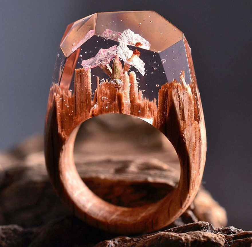 Miniature wooden rings1