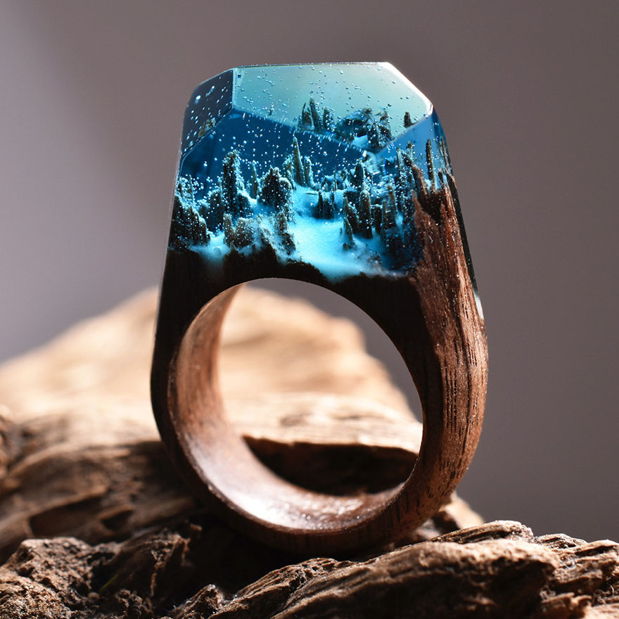 Miniature wooden rings10