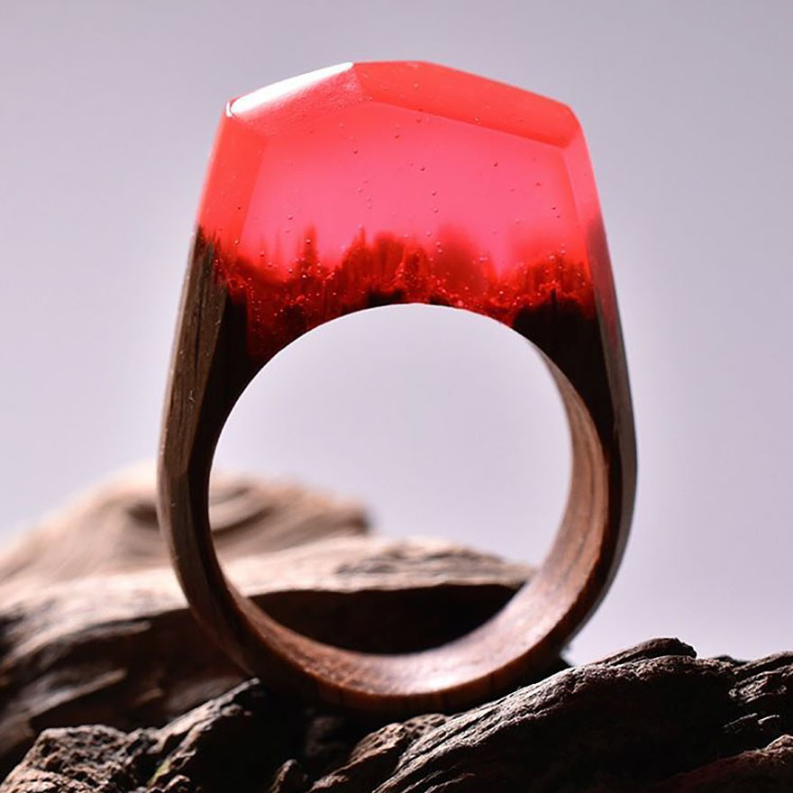 Miniature wooden rings11