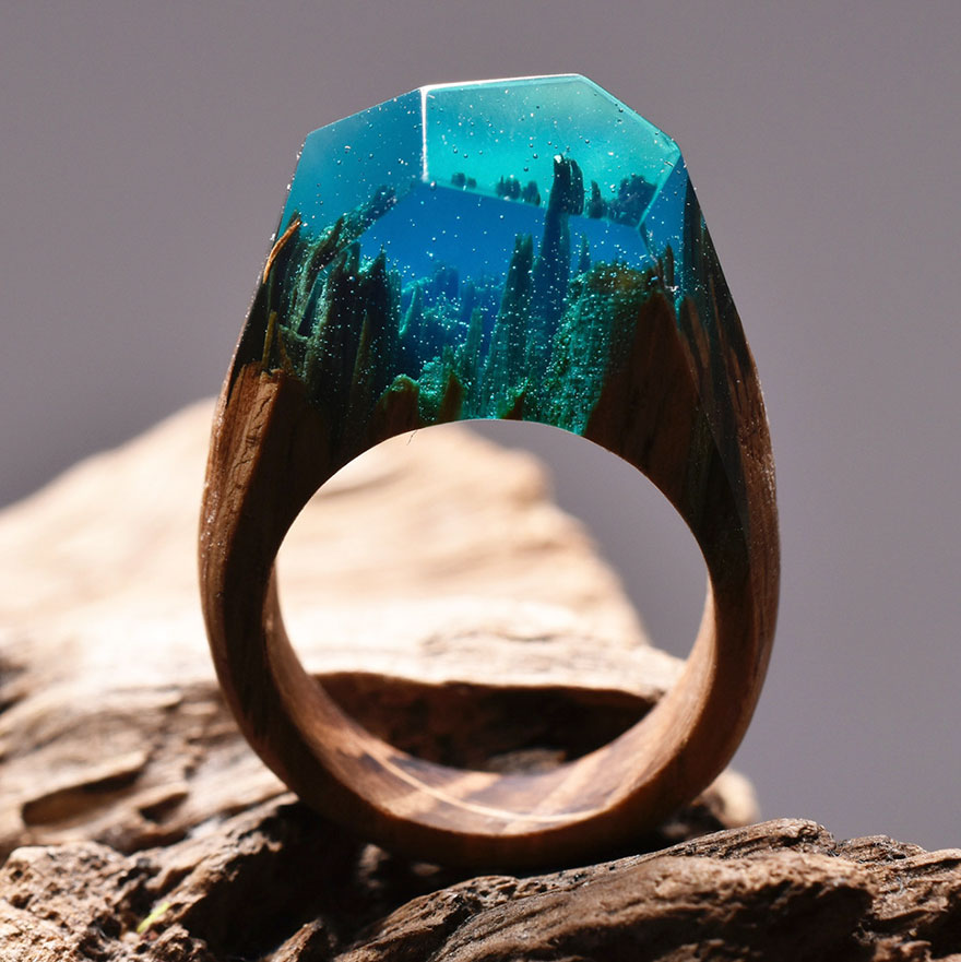Miniature wooden rings12