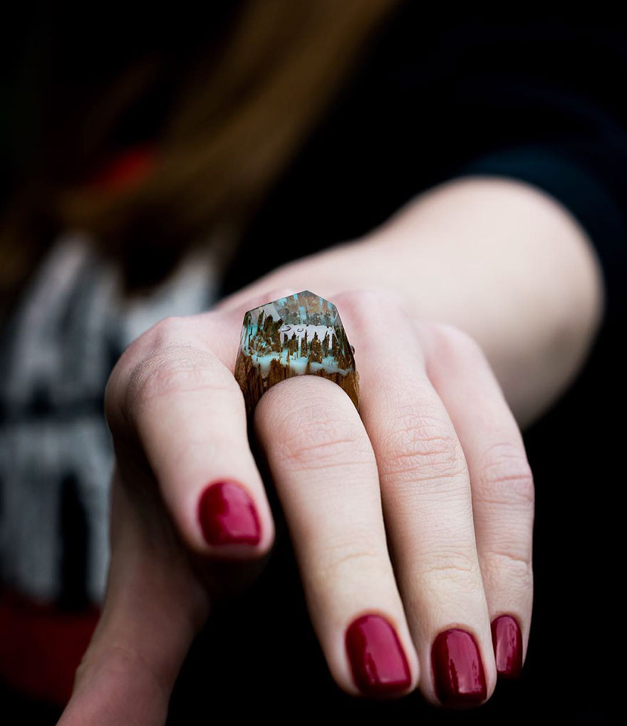 Miniature wooden rings14