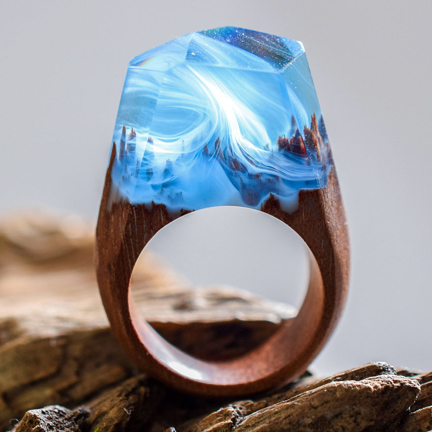 Miniature wooden rings2