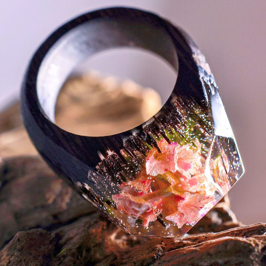 Miniature wooden rings5