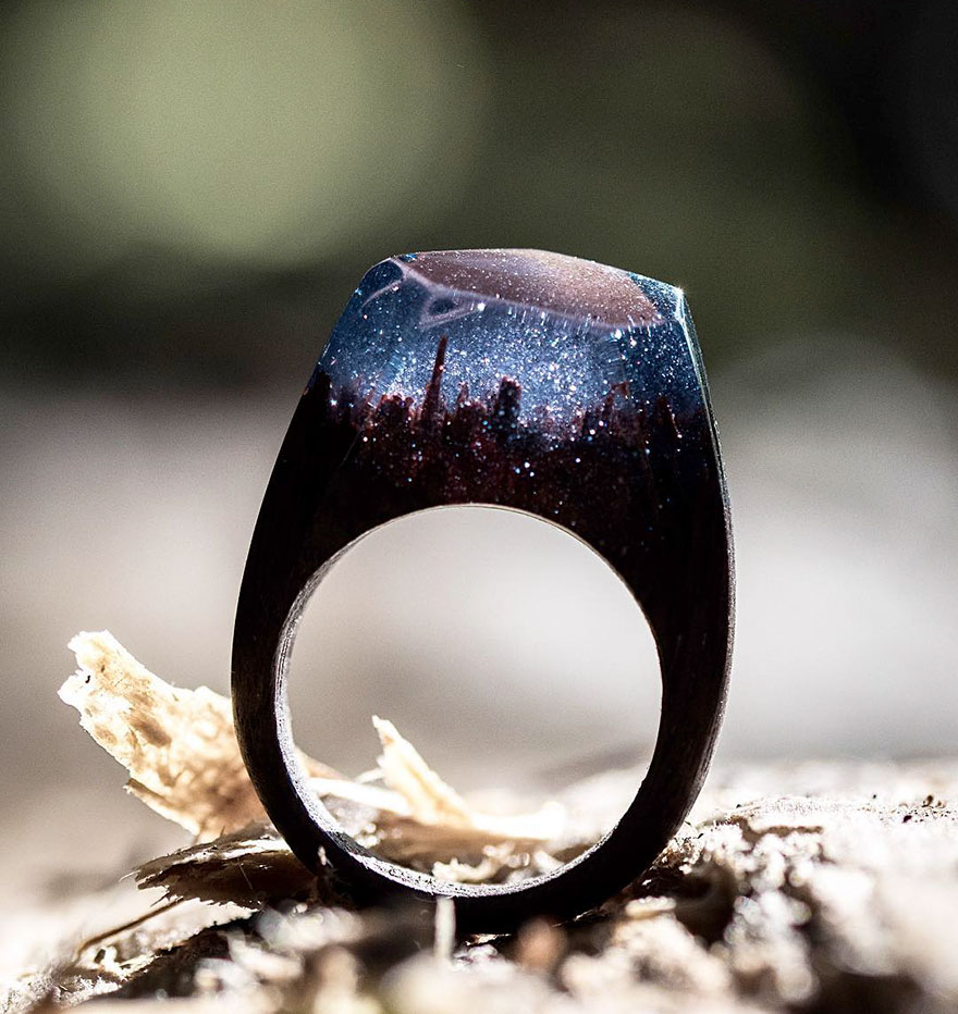 Miniature wooden rings6
