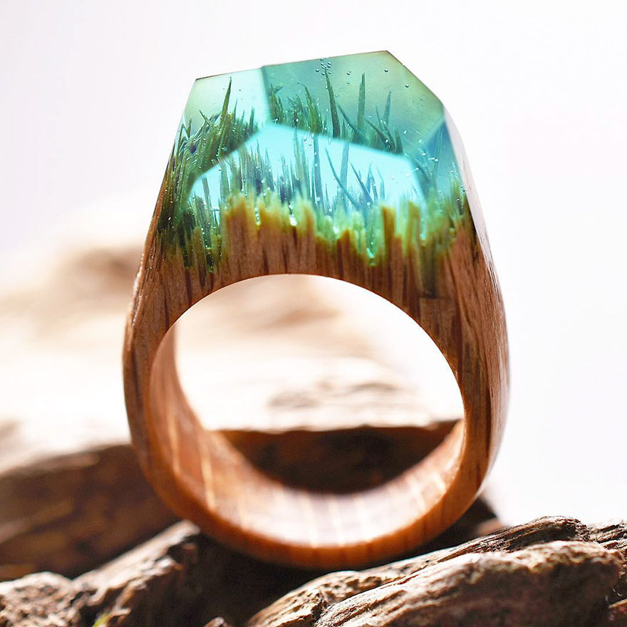 Miniature wooden rings7