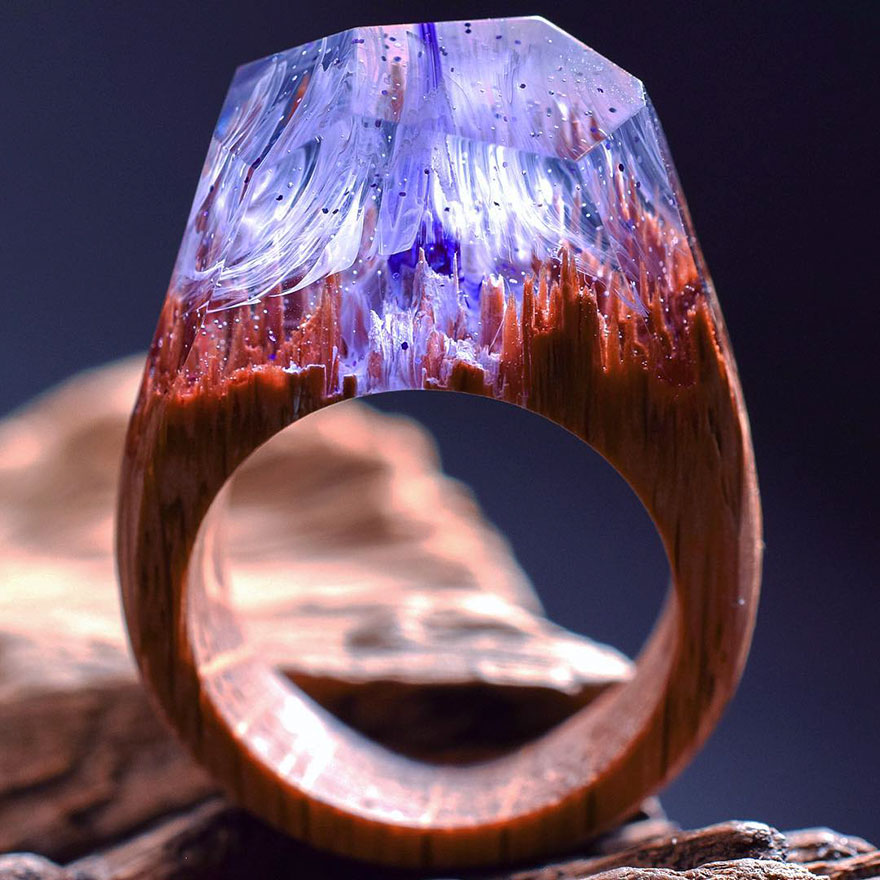 Miniature wooden rings8