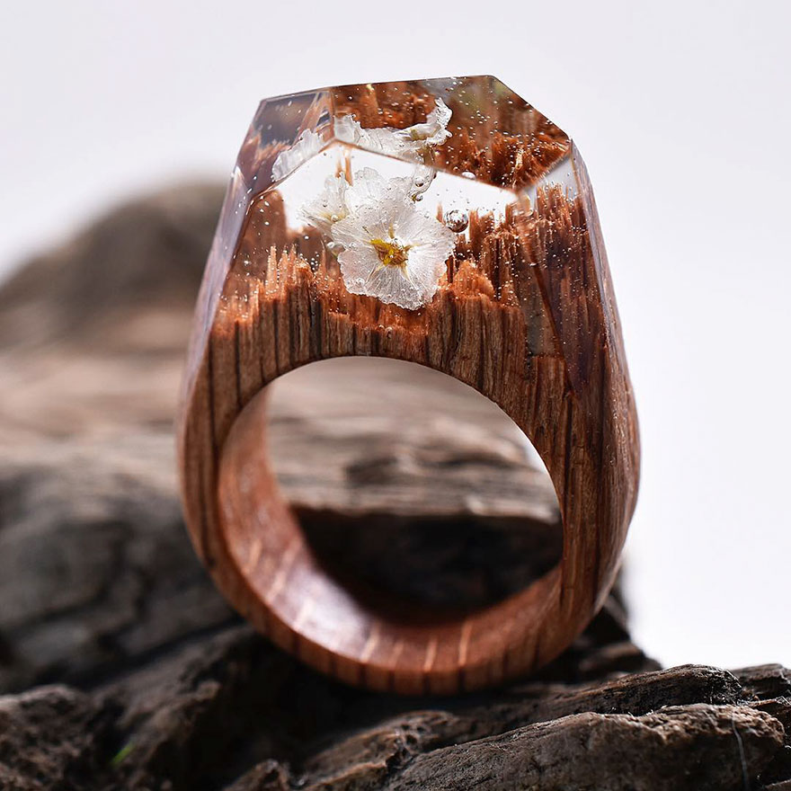 Miniature wooden rings9