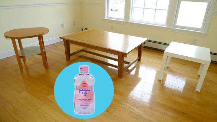 alternate use of baby oil 15