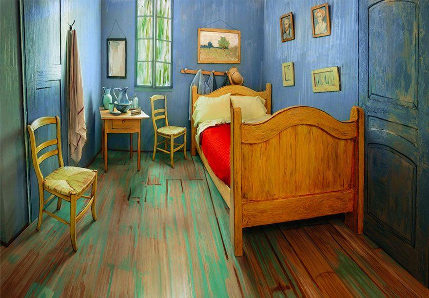 artists recreate Van Gogh's iconic bedroom 1