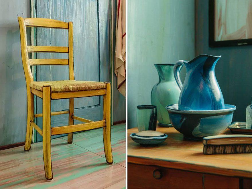 artists recreate Van Gogh's iconic bedroom 5