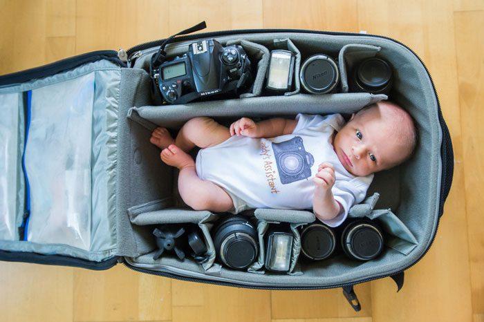 babies sleeping in camera bags 10