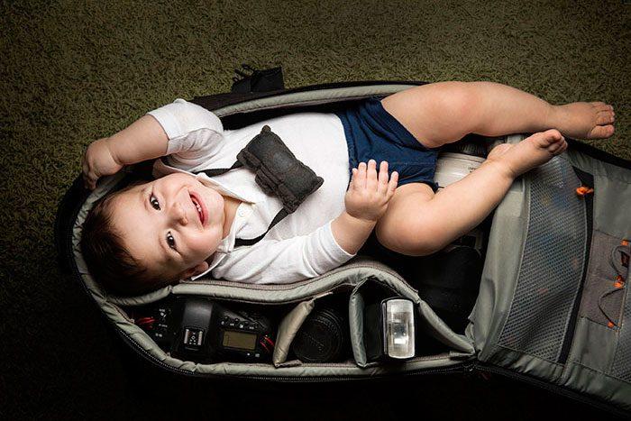 babies sleeping in camera bags 11