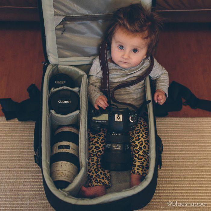 babies sleeping in camera bags 16
