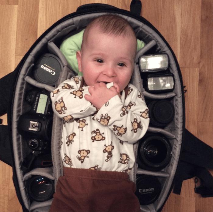 babies sleeping in camera bags 18