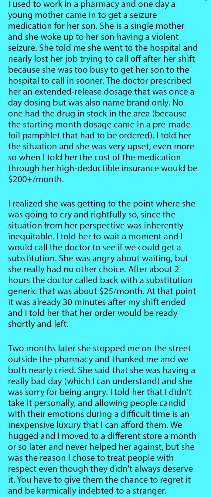mom rude to pharmacist