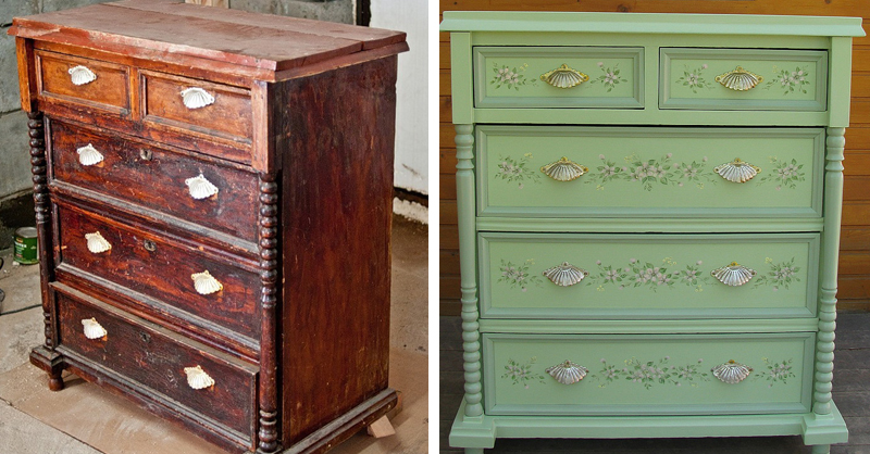 Как превратить старую мебель в новую своими руками фото