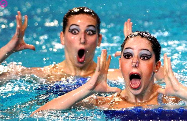 synchronized swimmers' faces 11