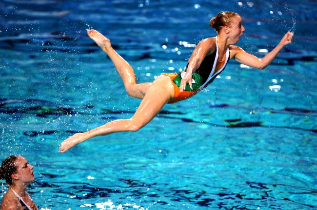 synchronized swimmers' faces 13