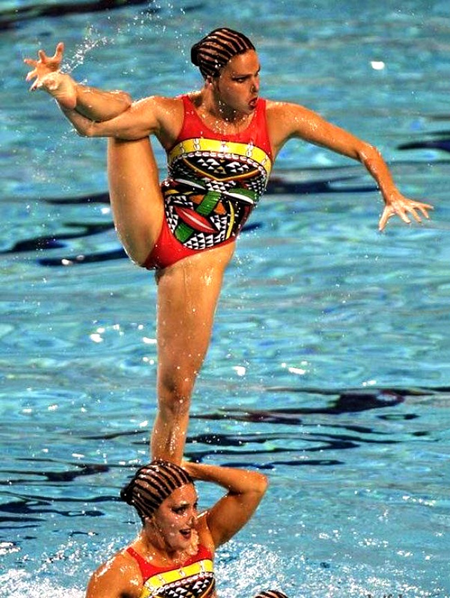 synchronized swimmers' faces 6