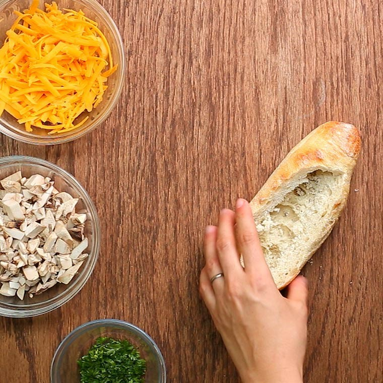 Mushroom Stuffed Bread2