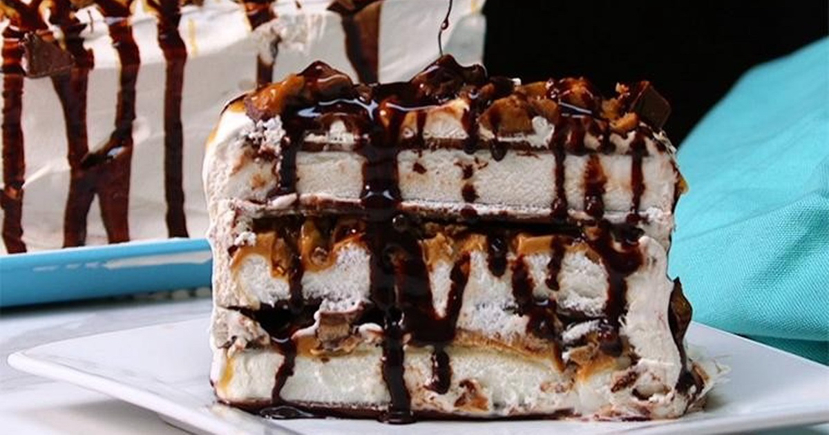 Ice Cream Sprinkle Drizzle Cake