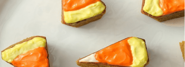 Candy Corn Pumpkin Blondies Are The Ideal Halloween Treat For Parties