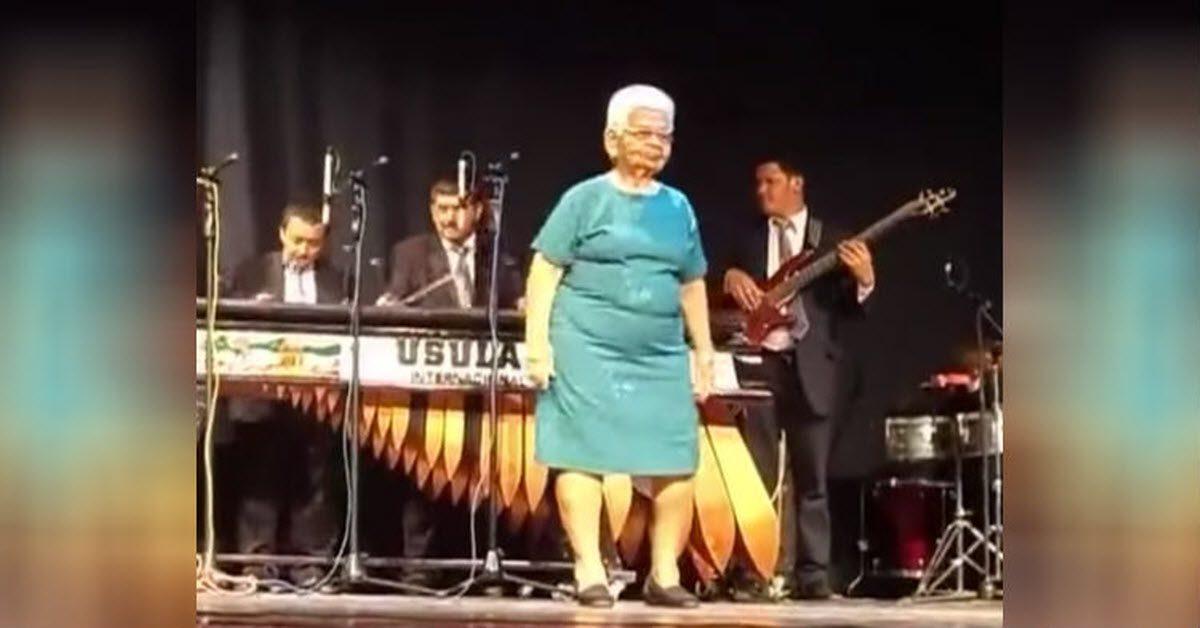 Grandma salsa dance