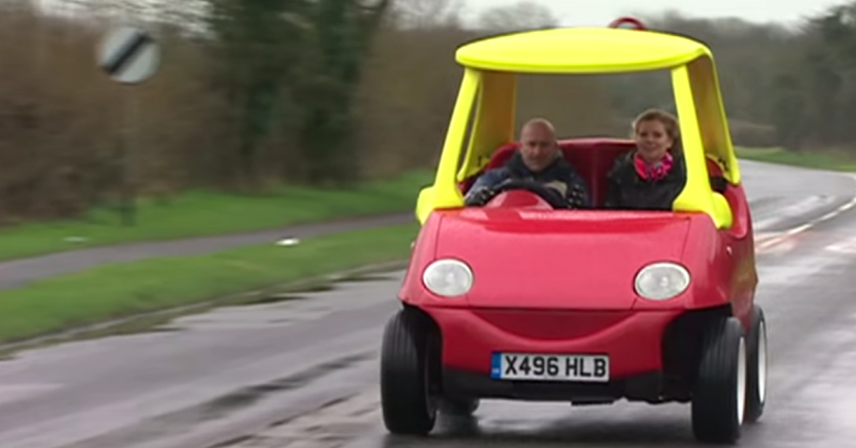 Adult version of little tykes toy car is legal and has an for Little tikes motorized vehicles