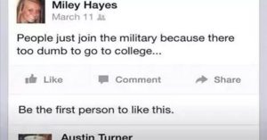 insulting military