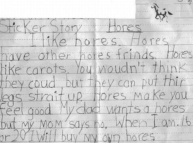 kids funny test answers