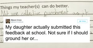 teacher punishes reply