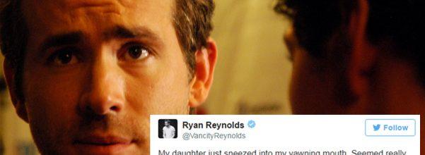 Ryan Reynolds tweeting dad