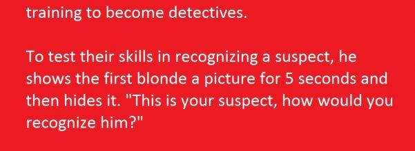 blonde female detectives