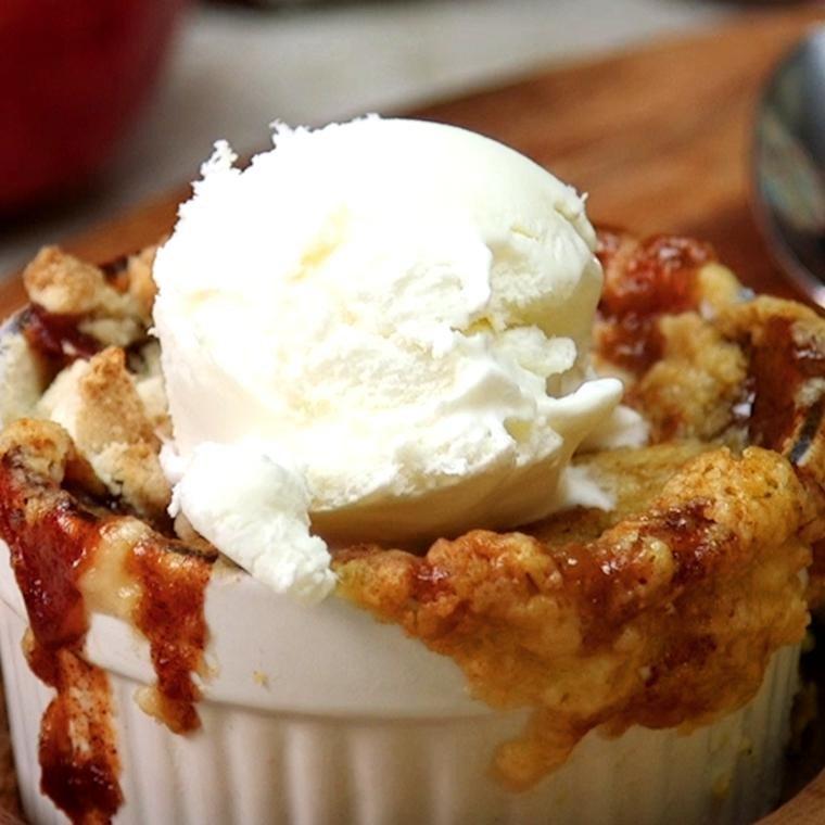 Caramel Apple Dump Cakes
