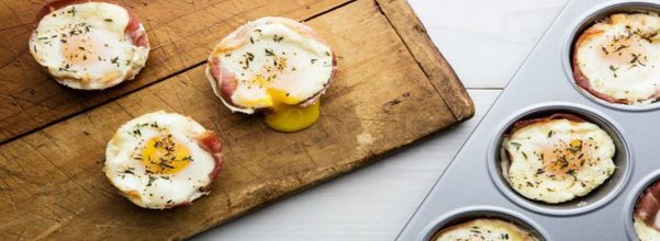 Prosciutto Egg Baskets