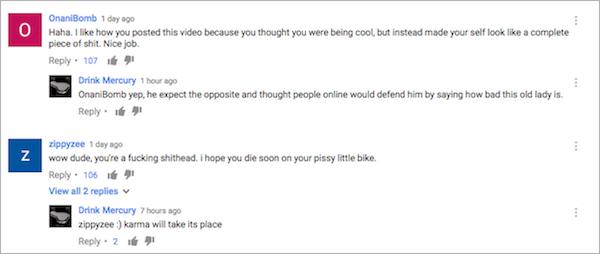 biker vs old lady