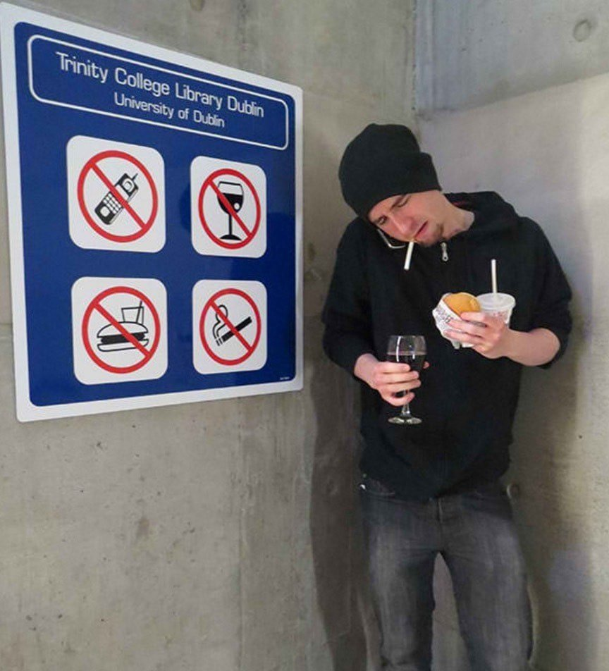 disobeying rules