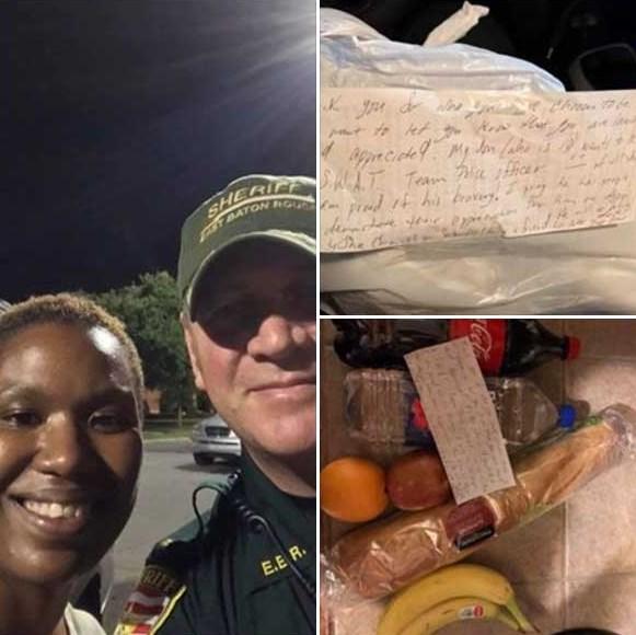 kindness for officer