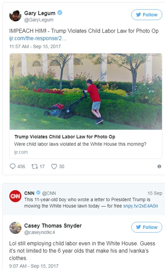 child labor white house