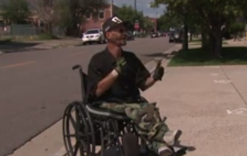 man in wheelchair ticketed