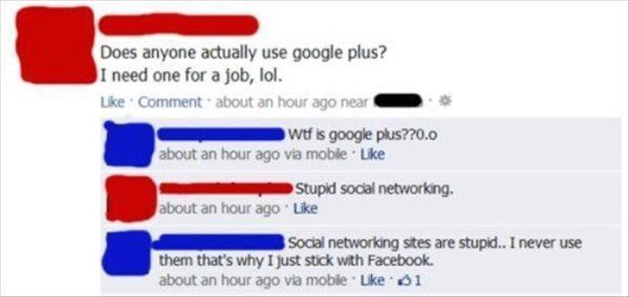 social media stupidity
